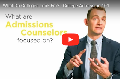 Video: what admissions counselors are looking for