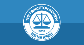 Best Law Schools 2018 seal