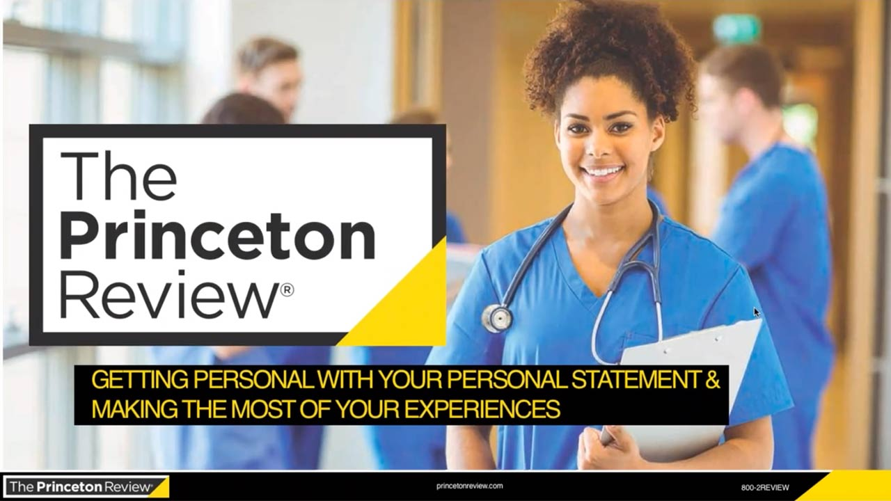 Crafting Your Med-School Statement and Experiences to Get Noticed webinar
