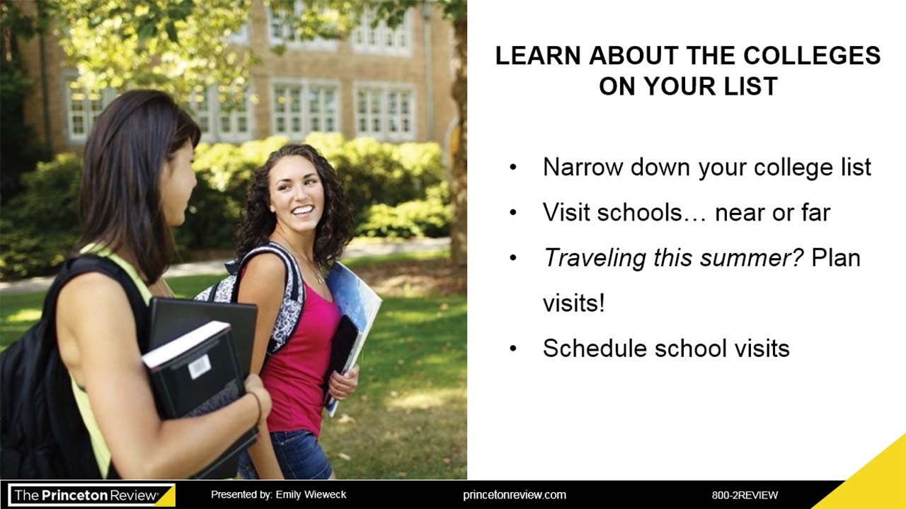 Your Guide to College Admissions webinar