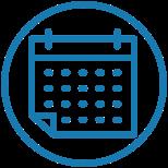blue GRE calendar