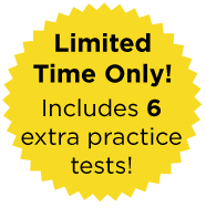 Limited Time Only, Includes 6 extra practice tests
