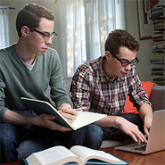 Twin Students Studying